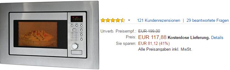 Bomann Einbaumikrowelle kaufen auf Amazon.de