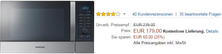 Samsung Einbaumikrowelle kaufen auf Amazon.de