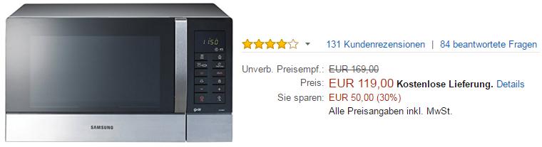 Samsung Mikrowelle kaufen auf Amazon.de