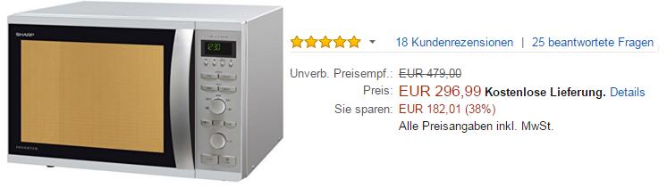 sharp r941inw mikrowelle kaufen f r nur 297 statt 479. Black Bedroom Furniture Sets. Home Design Ideas